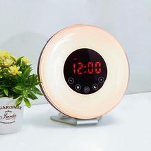 Wake Light With Sunrise Simulation Alarm Clock And Sunset Simulation Sleep Light EU/UK/US Drop Shipping 2018f5