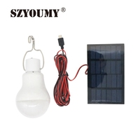 SZYOUMY Neue angekommene Led lampe Lampe Solar 15 Watt Solar Lampe Powered Tragbare led beleuchtung Energie Lampe Solar Panel Camp Nacht reise-in Solarlampen aus Licht & Beleuchtung bei