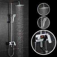Barato Grifo de ducha con pantalla Digital conjunto de ducha de lluvia de lujo pantalla Digital con