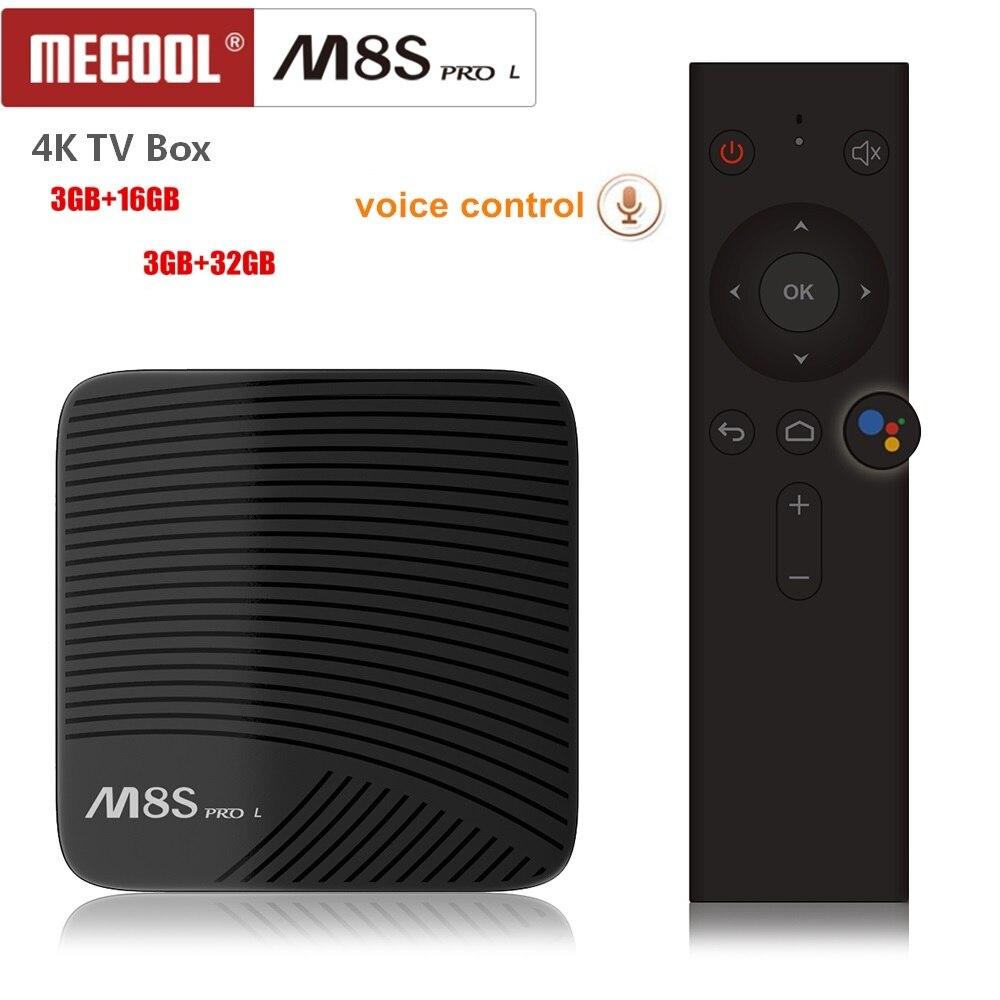 Mecool M8S PRO L Commande Vocale 4 k TV Box Android 7.1 Amlogic S912 5g Wifi Bluetooh 4.1 Ensemble -top Box 3D Media Player