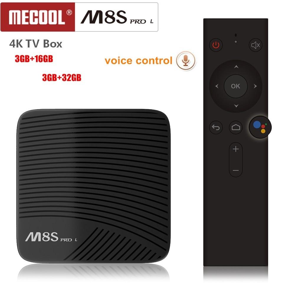 Mecool M8S PRO L Voice Control 4K TV Box Android 7.1 Amlogic S912 5G Wifi Bluetooh 4.1 Set-top Box 3D Media Player