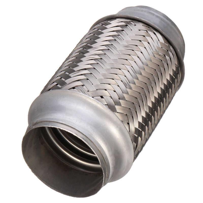 1pc 車の排気フレックスパイプヒントステンレス鋼溶接継手管マフラーアクセサリー
