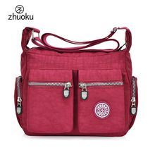 Women messenger bag Multi-pocket Female Shoulder Bags Crossbody bags for women Beach Good quality nylon sac a main ZK755