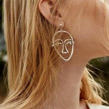 Bohemian earrings ladies earrings alloy face bracelet earrings hollow earrings jewelry wholesale(China)