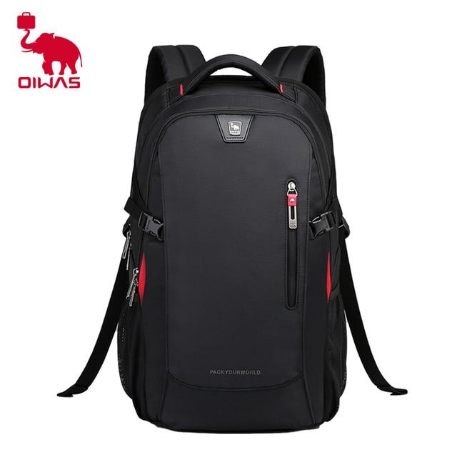 21ed22e95e OIWAS Business Bag 14 inch Laptop Backpack Waterproof Nylon 29L Casual  Shoulder Bag OCB4313