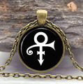 Prince Music Necklace Prince RIP Memorial Symbol Love Logo hermaphrodite Necklace Artist Gothic Glasses Pendant Necklaces Gift