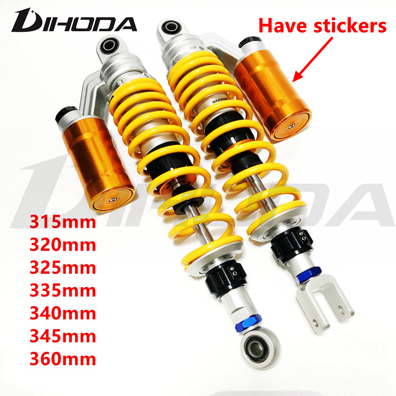 Motorcycle Scooter section adjustable rear air shock absorbers for Honda Suzuki Yamaha Kawasaki BW 125 Dirt Bike Gokart Quad ATV