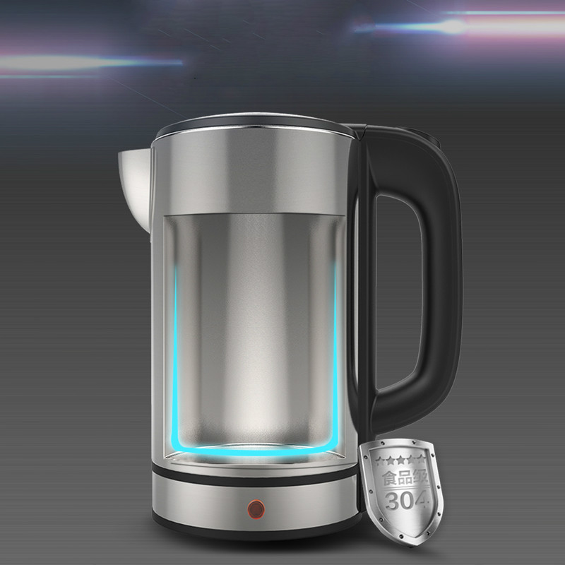 Electric kettle household 304 stainless steel automatic power failure 1.7L Safety Auto-Off Function electric heating kettle household 304 stainless steel fast automatic power safety auto off function