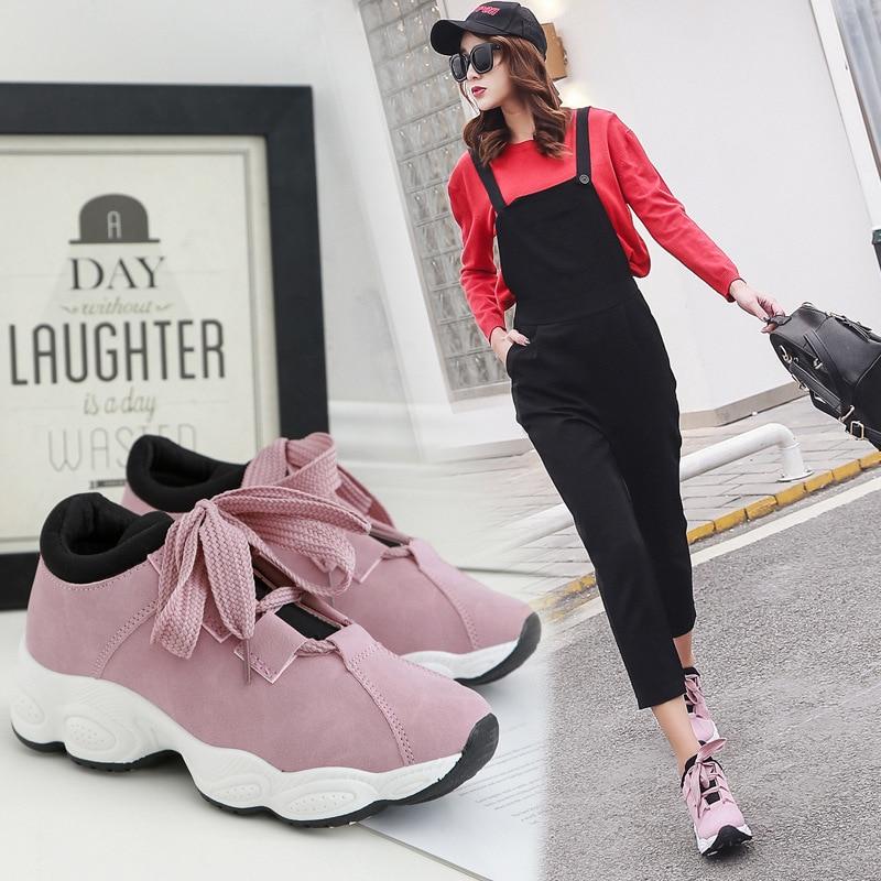 Women's Shoes 2019 Spring New Lady Super Fire Casual Shoes Fenty Beauty  Lace up Rubber Sole Platform Women Shoe DX166 Women's Flats  - AliExpress