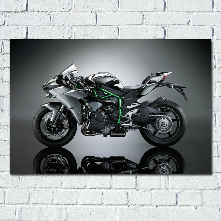Картина на стену с изображением мотоцикла Kawasaki Ninja Superbike художественный постер