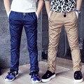 Новая Осень большой мальчик хлопок брюки 2016 осень мальчиков Грузов подростковые брюки досуг дети школы подростки брюки
