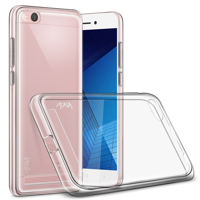 the best attitude d3ee1 23de5 US $4.1 5% OFF|Xiaomi Redmi 5A Case IMAK Clear Crystal Silicone Soft TPU  Back Cover For Xiaomi Redmi 5A Phone Cases Gift Screen Protector-in Fitted  ...