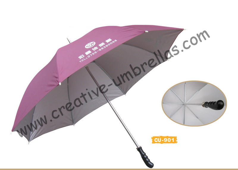 Free shipping by sea,14mm metal shaft and single fluted ribs,manual golf umbrella,anti-rust,advertising gift promotio umbrella