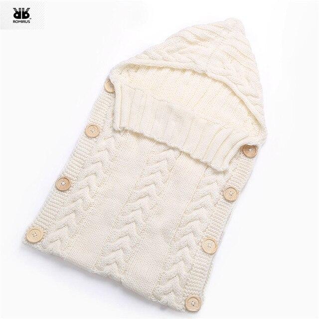 Bé Len Bọc Trẻ Con Bằng Tả Bọc Chăn Phong Bì cho Trẻ Sơ Sinh Trẻ Sơ Sinh Cô Gái Chàng Trai Knit Crochet Mùa Đông Áo Len Túi Ngủ Bao MUQGEW