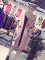В Европейский новая зимняя норки шерсти одежда длинный кардиган Соболь волосы пальто прилив бабочка бисером