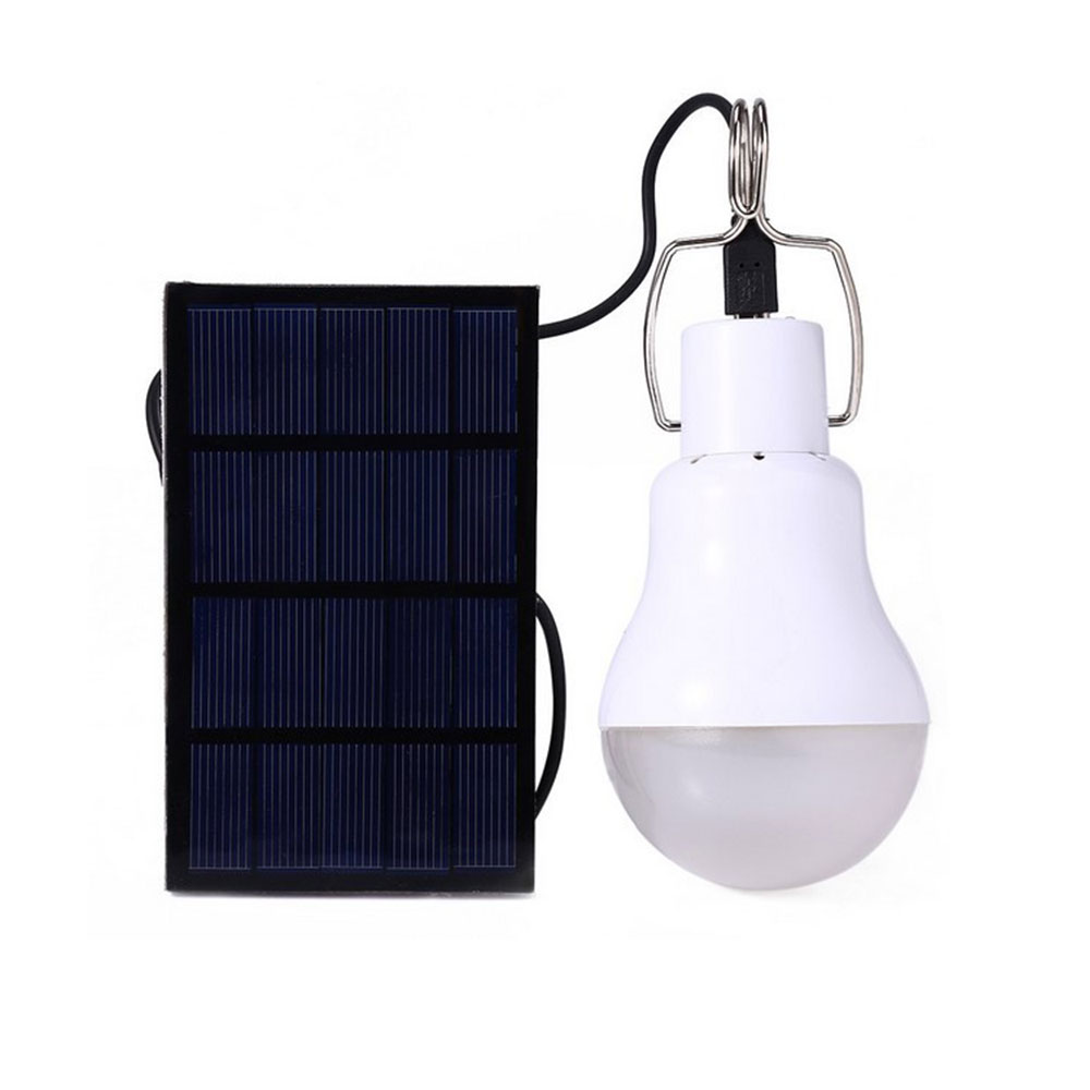 outdoor Solar powered led bulbs Solar Power LED Bulb Lamp with Solar Panel For Outdoor Camping Picnic living room Free shipping ...