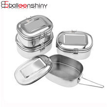 BalleenShiny Lunchbox Roestvrijstalen Lekvrije Bento Box Kids Draagbare Picknick School Metal Fruit Container Servies(China)