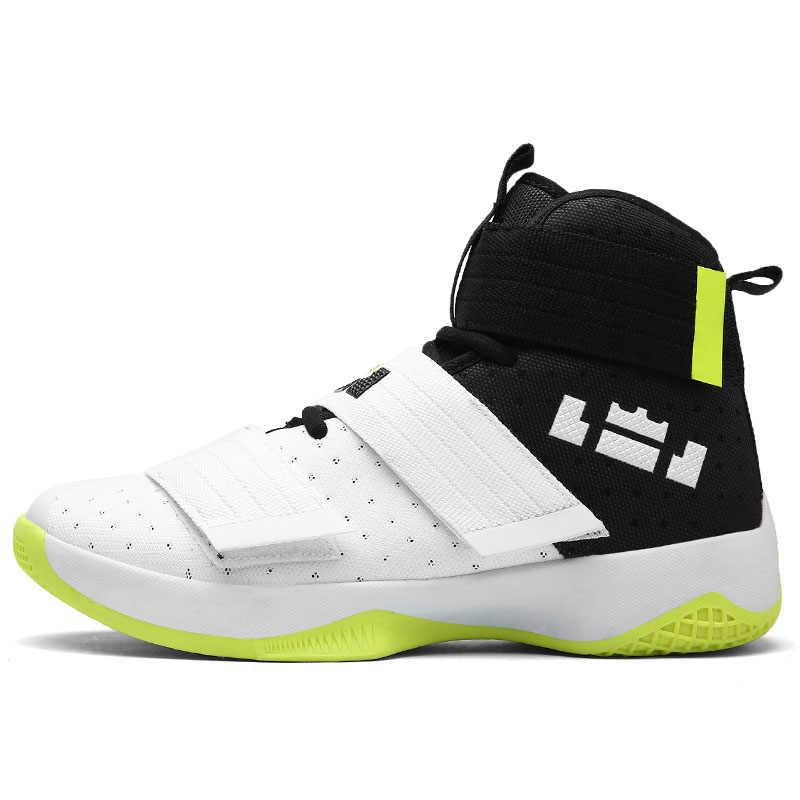 e3aeecde769 2019 New Men s basketball Shoes Zapatillas Hombre Deportiva Lebron  Breathable Men Ankle Boots Basketball Sneakers Athletic