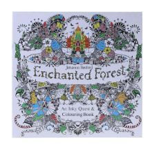 New An Inky Enchanted Forest Treasure Hunt and Coloring Book By Johanna Basford  Painted book