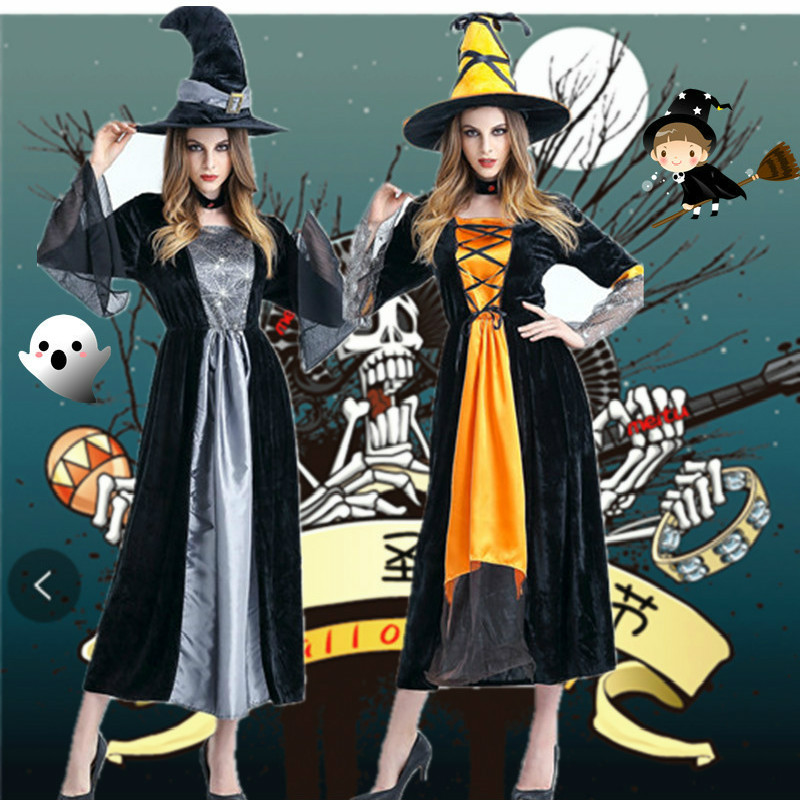 Halloween Horror Witch Cosplay Costume Ladies Festival Game Cosplay Stage Party Hot Sale Clothing