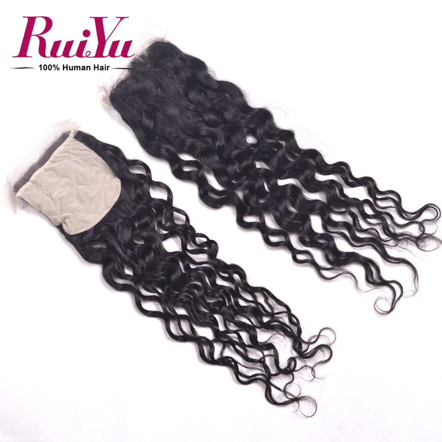 ФОТО 7A Grade Brazilian Natural Wave Closure Brazilian Silk Base Closure Human Hair Brazilian Curly Silk Base Closure Very Soft