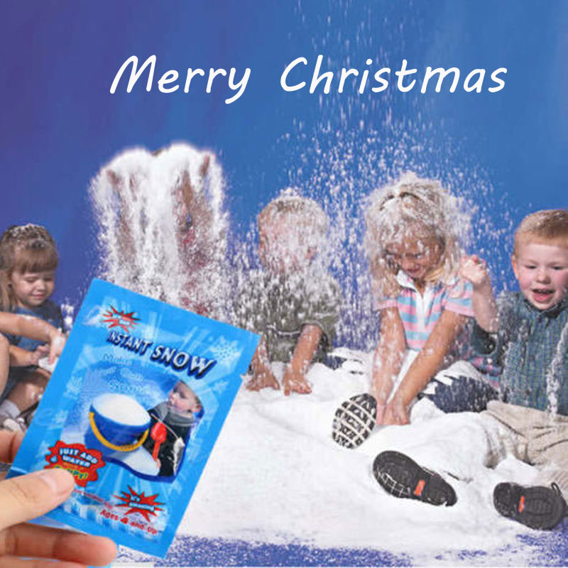 1 PCS Christmas Toy Artificial Snow Instant Fluffy Snowflake Super Absorbant Decorations Party Magic Prop For Children Toys Gift