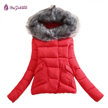 Yuzihua 2017 Women Basic Down Top Warm Jacket Female Coat Slim Autumn Winter Plush Collar Outerwear Long Sleeve Casual Jackets
