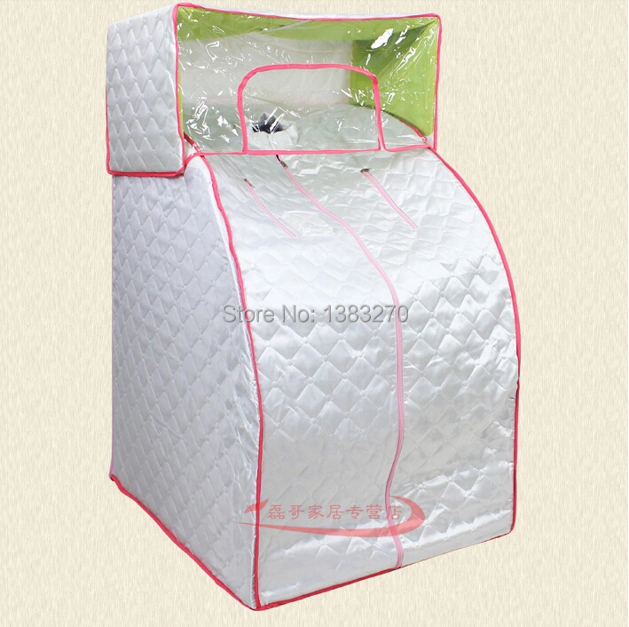 2017 NEW Portable steaming sauna room Home spa for Losing weight heater steam room sauna box Fumigation massage machine white