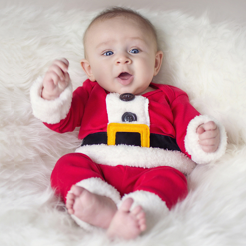 Children Christmas Clothing Set Baby Boys and Girls Christmas Suit and Dress Santa Claus Costumes Newborn Enfant Clothes