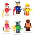 6 pcs Filhote de Cachorro Cão Patrol para Crianças Mini figuras de Ação Building blocks Brinquedos Modelo Juguetes Patrulla Canina Brinquedo Dos Desenhos Animados Para menino