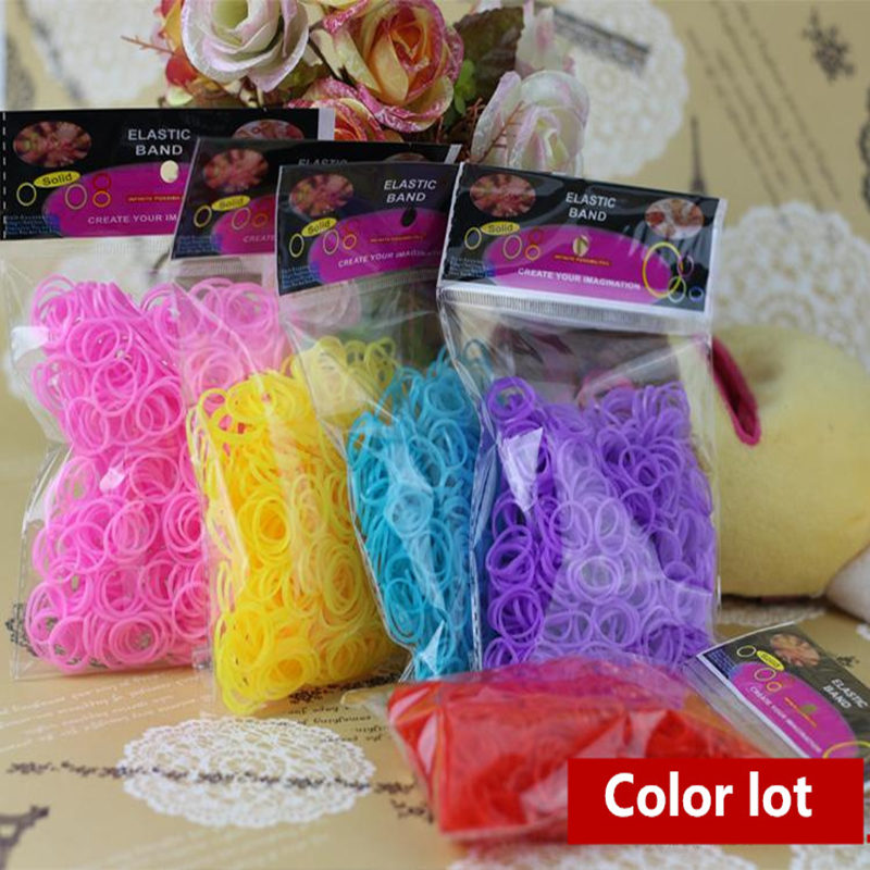Diy Knitting Machine : Diy knitting machine bracelet woven rainbow colored rubber
