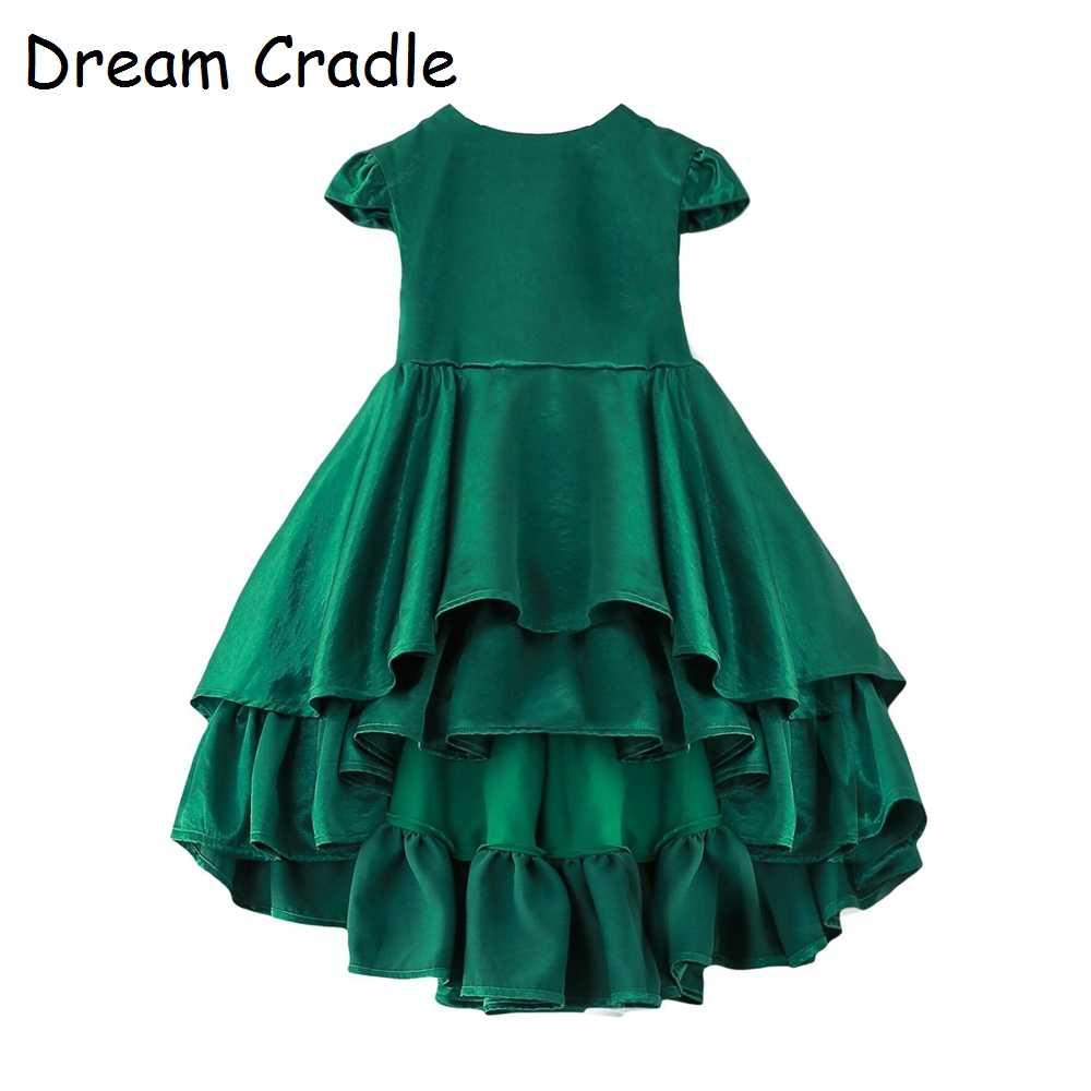 b24fcac3ec Dream Cradle / Luxury Emerald Baby Party Dress / Up-low Big Swing Baby Girl  Dresses Party and Wedding