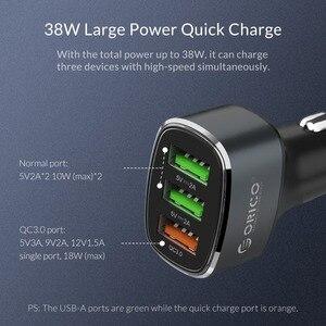 Image 4 - ORICO 33W 3 USB порта Быстрая зарядка QC 3,0 Автомобильное зарядное устройство для iPhone XR XS MAX 8 Samsung S10 зарядное устройство мобильный телефон быстрое автомобильное зарядное устройство