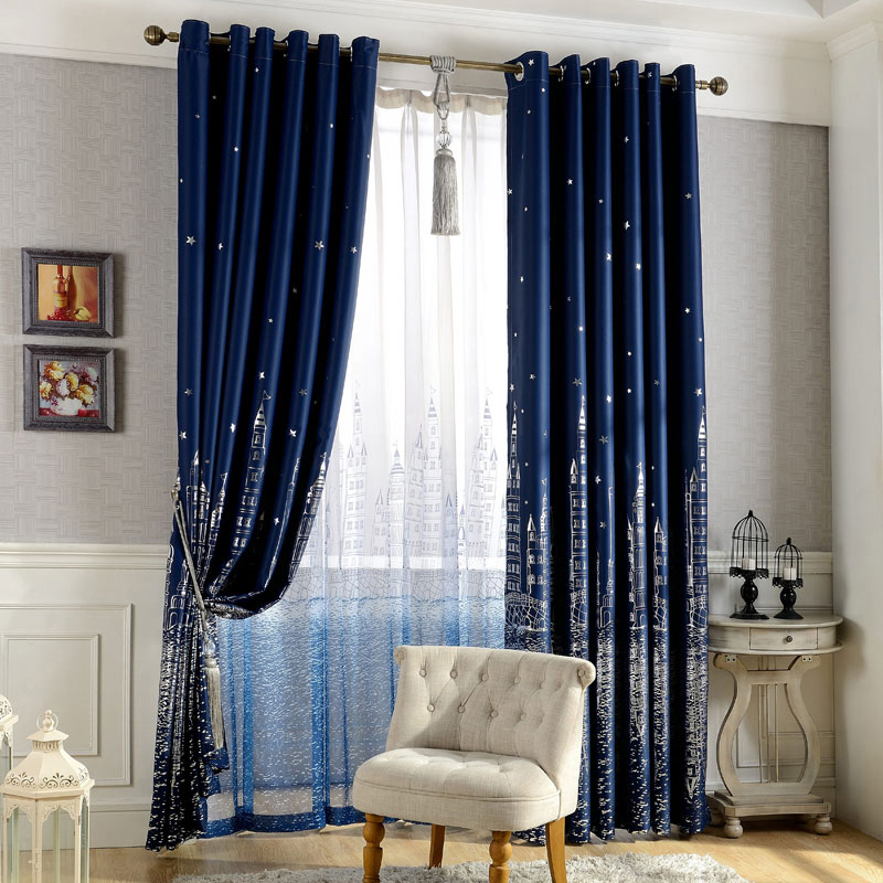 Luxury Castle Shade Cloth Tulle Drape Curtain Fabric Bedroom Blackout Lining Valance Y1China