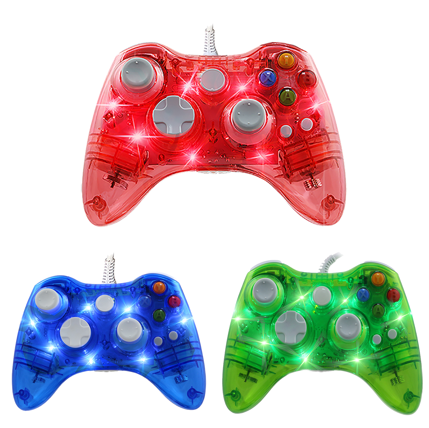 ViGRAND USB Wired Joypad Controller Joystick for Microsoft Xbox 360 Gamepad with PC for Windows 7 8 10 for Xbox360 Gamepads in Gamepads from Consumer Electronics
