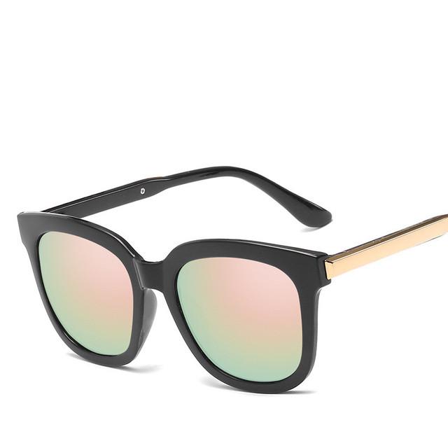 fashion brand sunglasses cat eye pink sunglasses woman shades mirror female square sun glasses for women coating oculos uv400