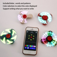 LED Smart Fidget Spinner Flash Words Set By Android APP USB Charge Hand Spinner Gift