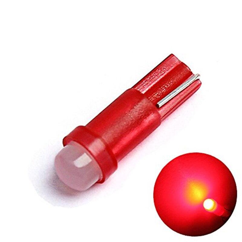 1PCS T5 1 COB 18 74 LED Interior Wedge Bulb Dashboard Gauge Instrument Lights Car Automobile Door Gauge Reading License Lamp 12V