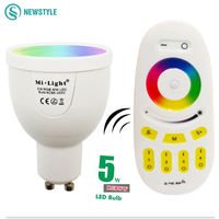 RGBW RGBWW 5W GU10 Led Bulb Lamp 2 4G Milight Wireless Dimmable Lights With Remote Control
