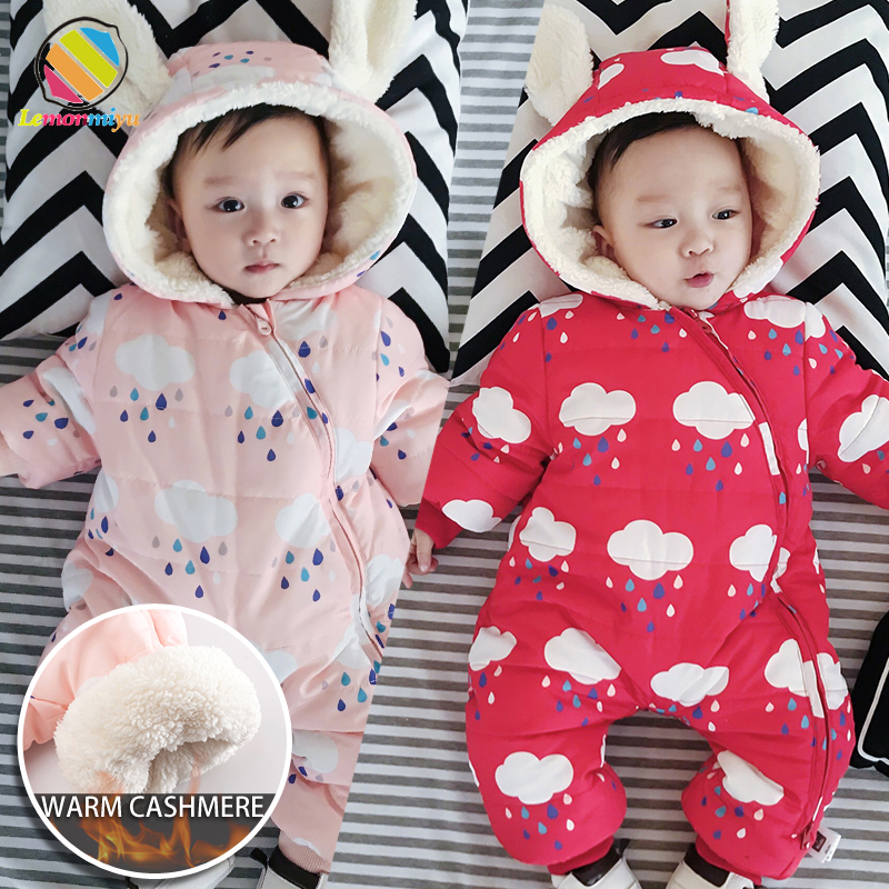b93451112 Lemonmiyu Newborn Animal Thicken Winter Rompers Baby Boys Girls Fox ...