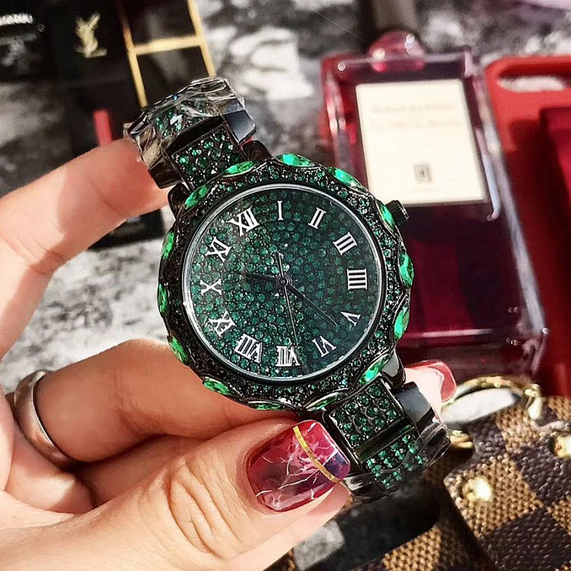 купить New Arrival Famous Brand Bling Watch Women Luxury Austrian Crystal Watch Shinning Diomand Rhinestone Bangle Bracelet waterproof по цене 2556.71 рублей