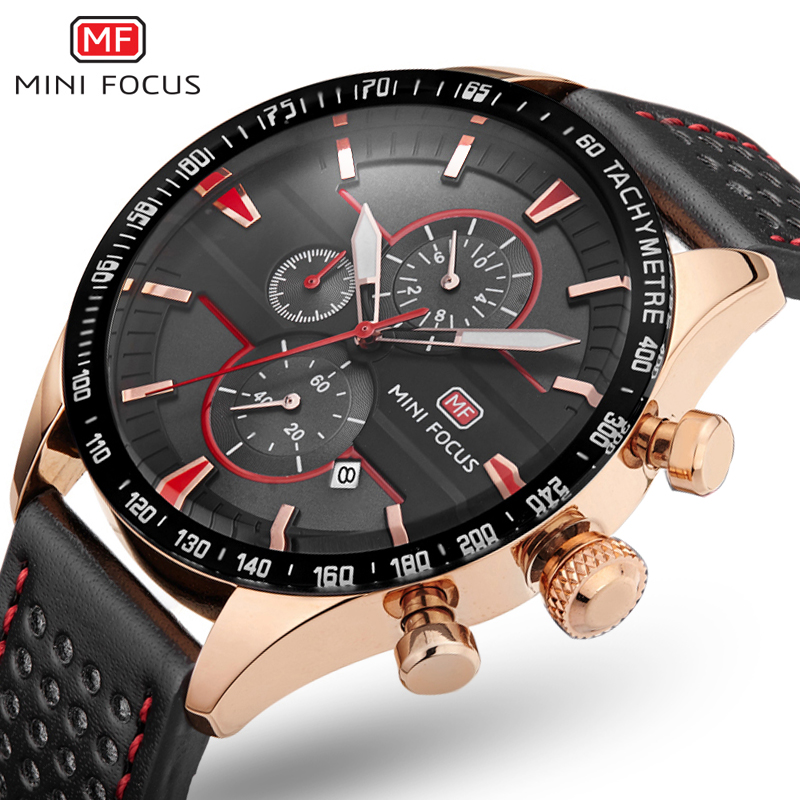 2017 Top Brand Pirate Series Multi function Dial Men s Watches Fashion Chronograph Genuine Leather Watch