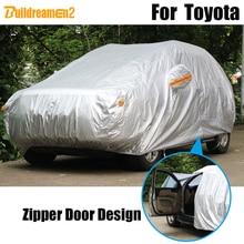 Buildreamen2 Waterproof Car Cover Outdoor Sun Rain Snow Protection Cover For Toyota Avalon Yaris Matrix RAV4 Wish 4 Runner EZ