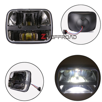 For Jeep 1986 to 1992 MJ Comanche 5x7 Rectangular sealed beam offroad driving LED truck headlight work lighting for YJ Wrangler