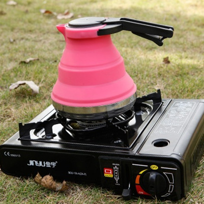 JJ230 Foldable Silicone Hot Water Kettle Tea Boiler Outdoor Travel Camping Kitchen Gadgets Cooking Tools Accessories Supplies