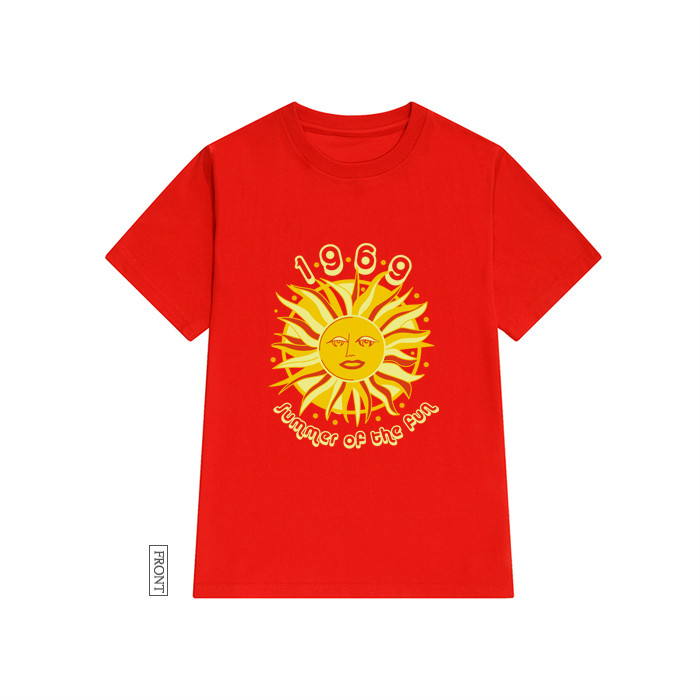 c34524c0e86d Summer of The Sun 1969 Red T shirts Round Neck Graphic Tee Top Short  Sleeves Women Funny Tumblr Aesthetic Camiseta Mujer-in T-Shirts from Women s  Clothing ...