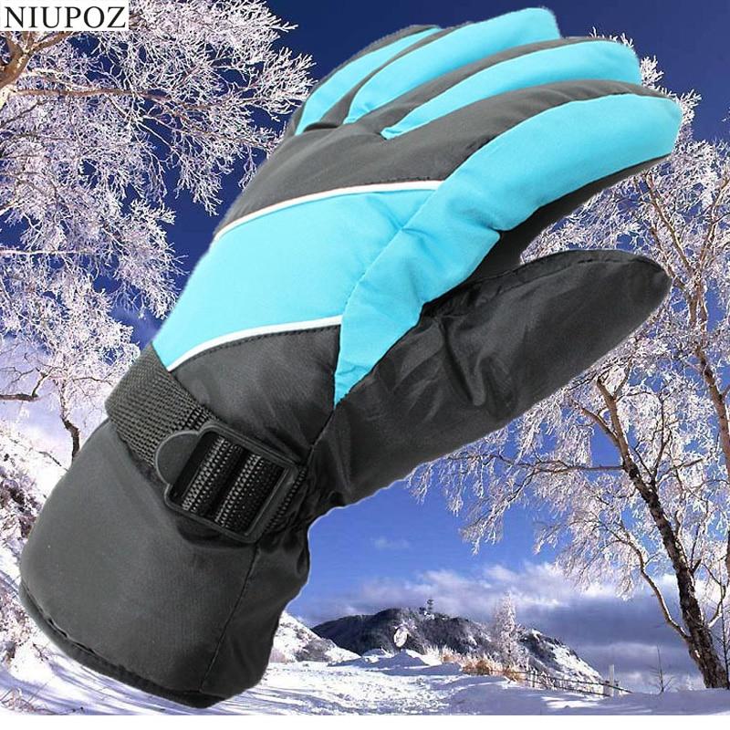 Winter Women Men Full Finger Ski Gloves Space Cotton Warm Bike Sport Gloves Unisex Windproof Moto Bicycle Cycling Gloves G35