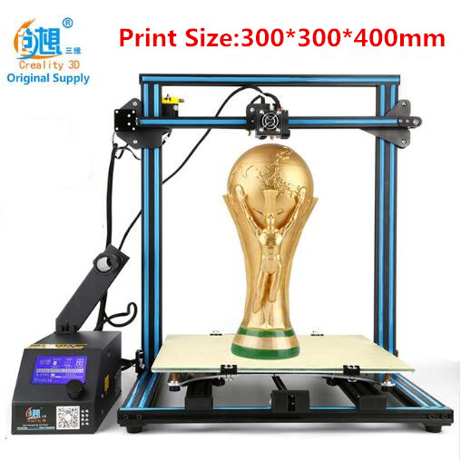 Creality CR-10 Big 3 D Printer Kit Print Size 300*300*400mm DIY Desktop 3D Printer Free Filament With Heated Bed Free Shipping