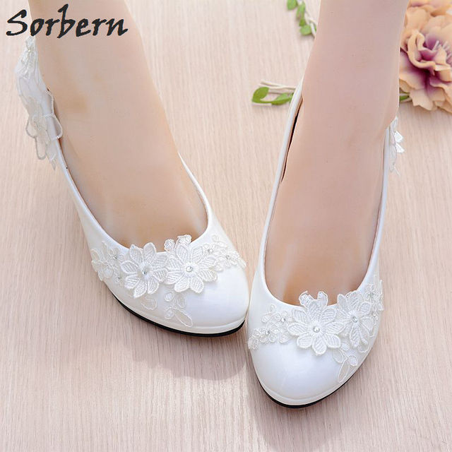 Sorbern White Girl Shoes Party Kitten Heels Pointed Shoes Rhinestone  Wedding Shoes Women Heels Real Photos 199afcd11e00