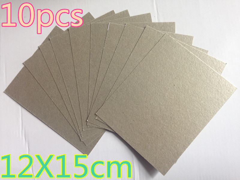 10 stücke Super starke 12*15 cm ersatzteile für mikrowellenherde glimmer mikrowelle glimmerplättchen mikrowelle platten